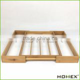 Bamboo Kitchen Drawer Organizer/Cutlery and Utility/Homex_BSCI