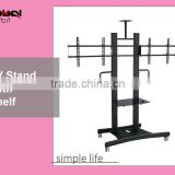New Design Mobile TV Bracket Cart With Wheels TV Stand Projector Shelf