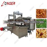Continuous Peanut Fryer Machine|Belt Conveyor Snack Frying Machine