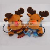 2017 New Arrival!!! Soft Christmas deer key ring corporate gifts