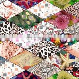 Wholesale Digital Printed Polyester Spandex Fabric For Woman Garment