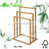 new product bamboo bathroom towel rack stand