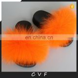 Children style baby cute genuine fox fur slipper wholesale fashion fur slippers