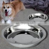 Steel stainless pet bowl colored anti skid dog bowl