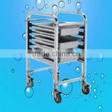 Hot sale Cleaning Pan glass Moving Trolley