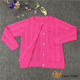Regular Pointelle Pattern Cardigan Sweater for Girl