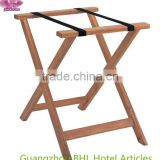 Simple folding solid wood luggage rack for hotel