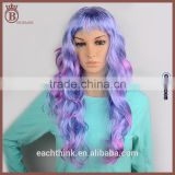 Popular Harajuku Style Synthetic Long Mixed Color Cosplay Curly Wig