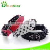 Pet Dog Collar Adjustable Harness Spiked Studded Faux Leather Punk Rivet Dog Collar Pu Sharp Spikes Dog Collar Making Supplies