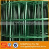 Hebei Shuolong supply 0.9mx18m 19 Gauge welded wire mesh with a green pvc plastic coated for bird cage netting