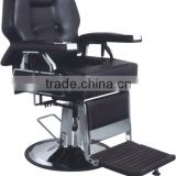 silver and black adjustable aluminum salon barber chair ; portable European barber chair for salon