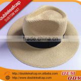 summer fashion straw hat promotional summer fashion straw hat Newest paper summer straw hats with specail ribbon