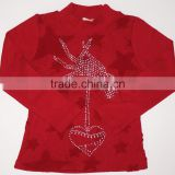 Hand Feeling Lace Star Embroider Lapel Long Sleeve Kids Shirt