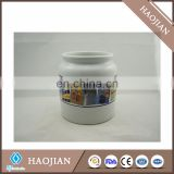 Sublimation Ceramic cookie jar with lid, plastic ring inside lid