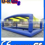 Blue Quadrate Inflatable Swimming Pool With Roof