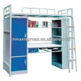 Fine Process Strong Knock Down Structure Steel Bunk Bed