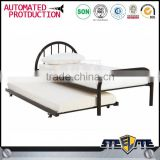 China manufacturer wholesale hotel metal single bed designs in dubai