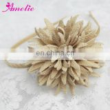 Fashion Flower Fabric Hair Accessory Hairband Champagne Color