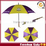 8K wooden handle promotional umbrella with logo printing