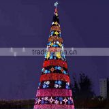 Home and outdoor garden edging decoration 2m to 16m or 6.5ft to 53ft Height artificial large 3d LED Christmas Tree E06 3005