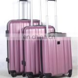 New stock 3 piece trolley abs luggage set whoelsale