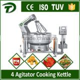 1000L large capacity Inclined gas electric steam heating jacketed cooking kettle for lotus paste