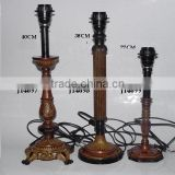 Patina finished brass lamps base in Classical style available in other finish