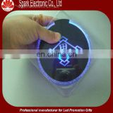 led table coaster, led flashing table coaster