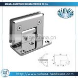 wall to glass,glass to wall wide back plate 90 degree glass shower door hinge