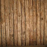 natural bark fence for gardening