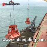 ship remote control grab with hydraulic system for handling bulk material
