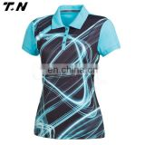 2016 custom women dri fit golf polo shirts golf team jersey