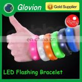 Glovion motion activated led bracelet candy color led flashing bracelet led sports led flashing bracelet