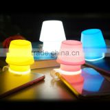 Newest design silicone mobile phone lamp, mobile phone holder