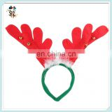 Red and Green Felt Reindeer Antlers Christmas Headbands with Bells HPC-1065