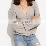 China Supplier Hot-sale & Comforable Viscose Cotton Blend Long Sleeve Shirts for Women