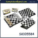 classy metal chess pieces magnetic chess board for folding