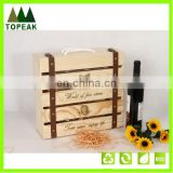 New products 2016 high quality 4 four bottles wine wooden box