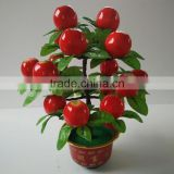 hot sale high quality cheap atificial apple tree bonsai real touch for indoor & outdoor decoration