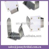 CL001A wedding table decoration, metal table skirt clip