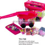 rolling tool box and toy box,plastic container with wheels