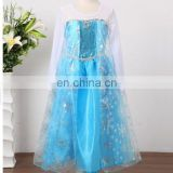 China supplier frozen elsa princess dress popular carnival dress wholesale children girl dress for sale FC011