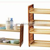 rectangle adjustable plastic storage bathroom shelf