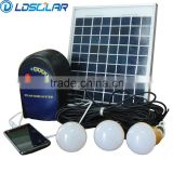 Portable low price 6w/12v solar home lighting system with ce rohs                                                                         Quality Choice