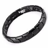 Personalized Black Ceramic Bracelets Mens Hand Bracelets
