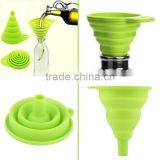 High Quality 1pc New Mini Silicone Gel Foldable Collapsible Style Funnel Hopper Kitchen cooking tools