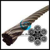 Stainless Steel Wire Rope 304 IWRC- 6x37 Class (Lineal Foot)