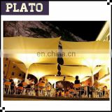 Italy design coffee shop umbrellas/LED square tulip umbrellas for outdoor ecents