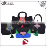 Beautiful yunnan traditional handmade embroidery evening bag set