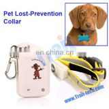 White Dog Electric Lost Prevention Pet Collar Alarm